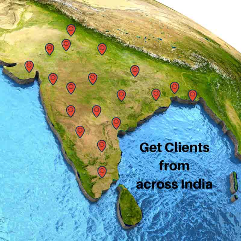 Get Clients from across India
